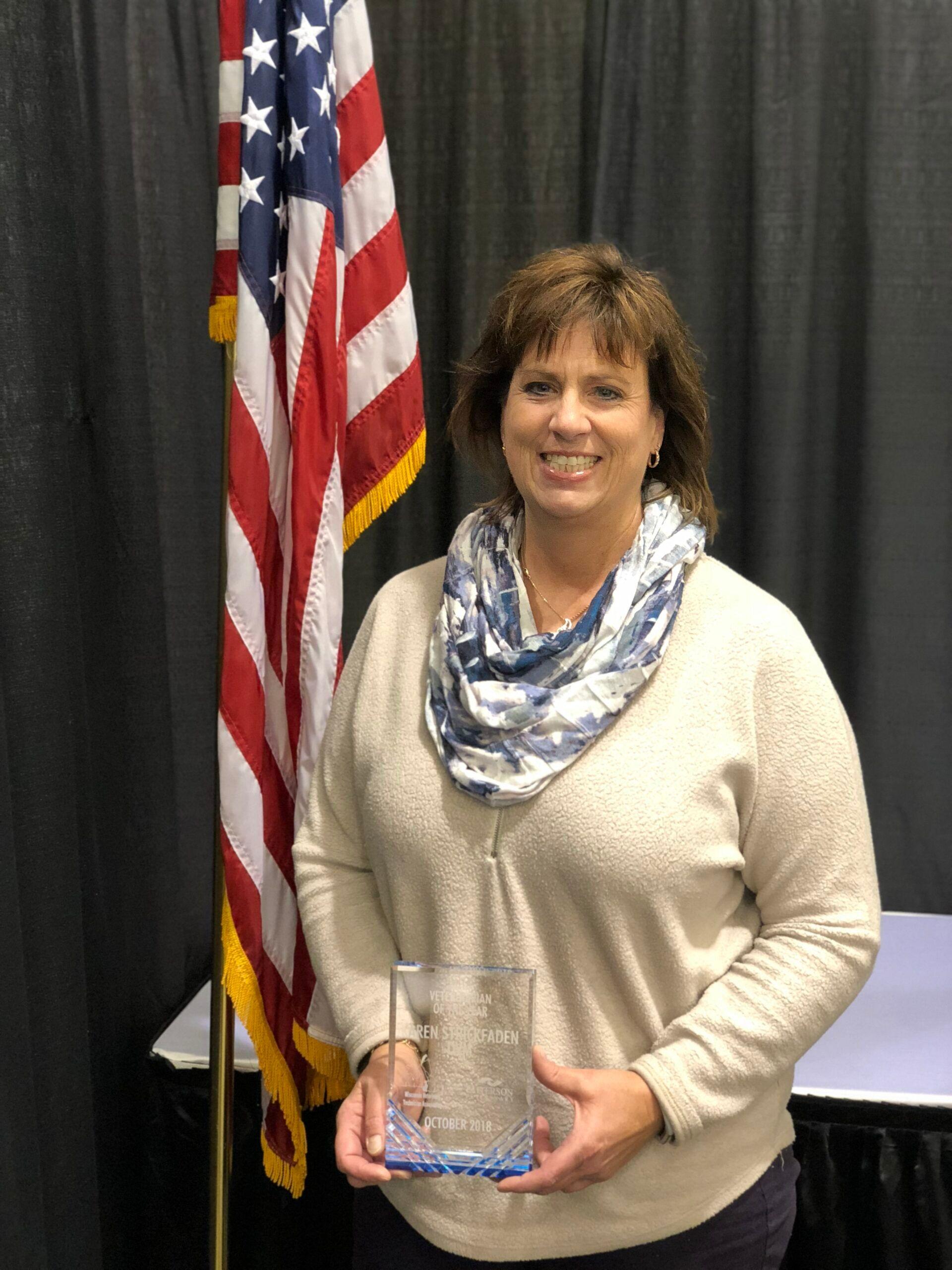 Dr. Karen Strickfaden recieves award