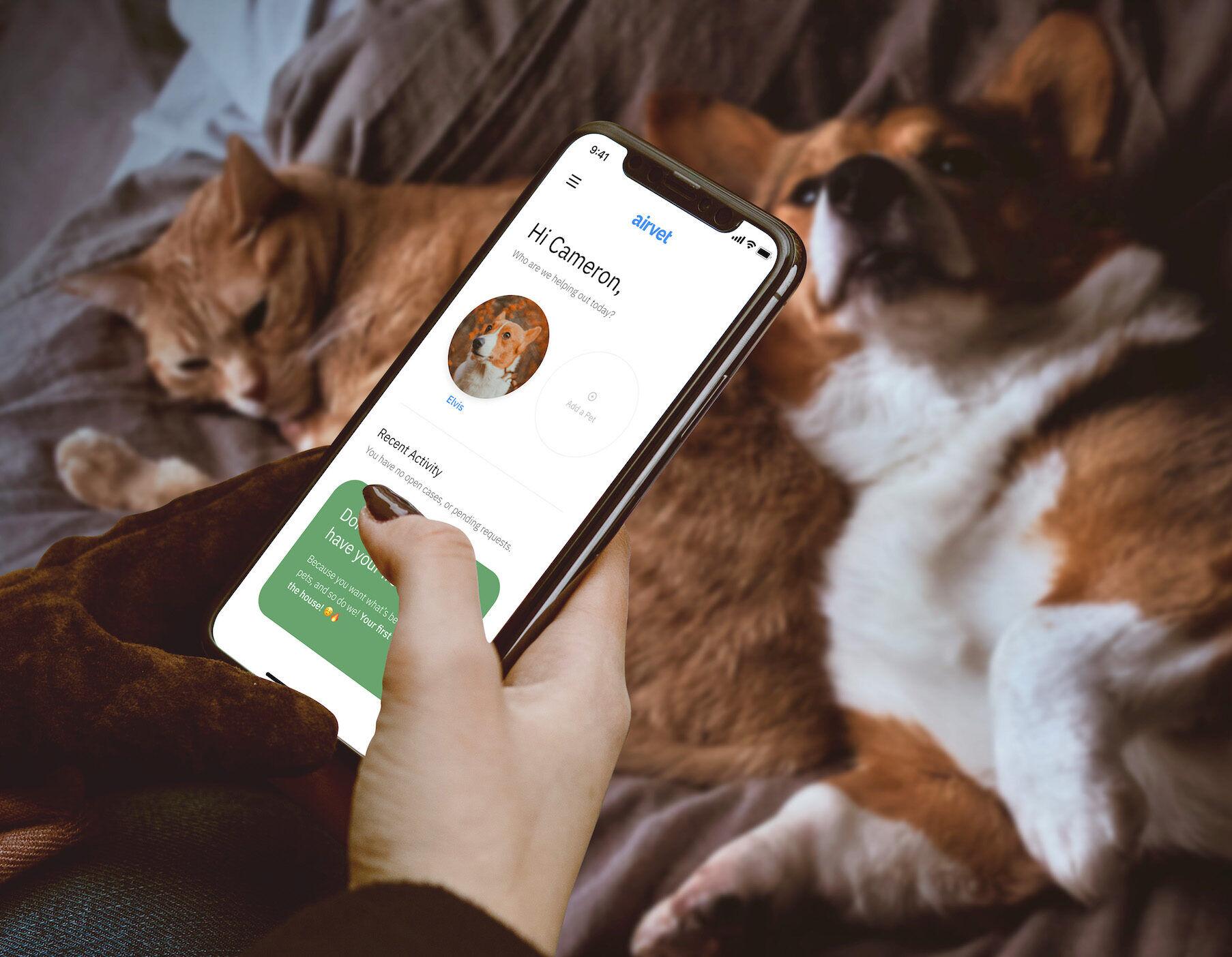 arivet pet parent home screen