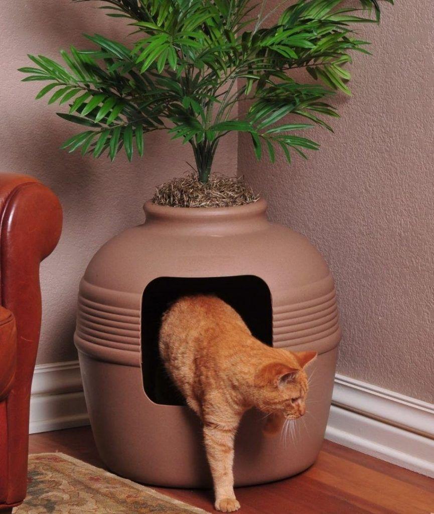 hidden cat litter box decorative planter